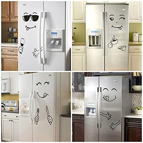 OUDE murales Cocina Deliciosa Etiqueta Cara Feliz Linda refrigerador de Cocina Vinilo Etiqueta de la Pared del Arte calcomanía Frigorífico Decoración
