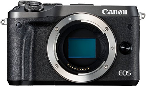 Canon EOS M6 - Cámara EVIL de 24.2 MP (pantalla táctil de 3.0'', DIGIC 7, NFC, Dual Pixel CMOS AF, Bluetooth, 5 - Axis Digital IS, Full HD, WiFi) negro - solo cuerpo