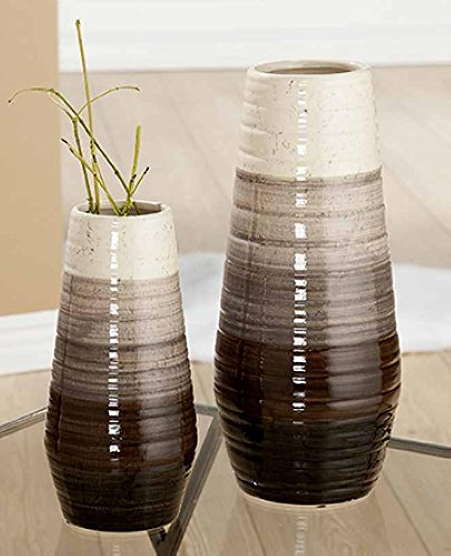 GILDE Keramik Vase Volto 2 Stück Stück Stück braun beige L = 15,5 x B = 15,5 x H = 35 cm B07BXQ9SL3 b3ed02
