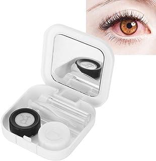 Doos voor contactlenzen, mini-eenvoudige contactlenzenhouder met spiegel + houder voor contactlenzen + fles voor verzorgin...