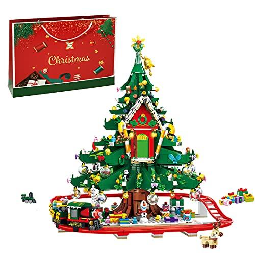 TARS Idee, edificio natalizio, modello 2126 pezzi, albero di Natale, capitolato per architettura, compatibile con Lego Creator
