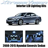 XtremeVision Interior LED for Hyundai Genesis Sedan 2008-2015 (10 Pieces) Cool White Interior LED Kit Package+ Installation