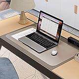 WASJOYE デスクマット マウス対応 透明 915×508×1.5mm 食品級PVC 耐高温 防水 学習机 事務所机 オフィス用 斜めカット 両面転写軽減 ハサミで切れるフリーカット