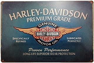 MARQUISE & LOREAN  Placas Decorativas Pared Motos Harley Davidson Decoración Carteles Vintage Metálicos MIRA (Azul, 20 x 30 cm)