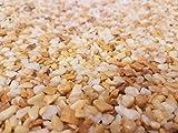Steinteppich Marmorkies für 2qm l (25KG Marmorkies + 1,5KG Bindemittel, Giallo Siena)