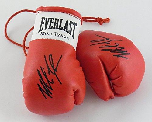 Signiert Mini-Boxhandschuhe Mike Tyson (hohen Sammler)(ein Paar)