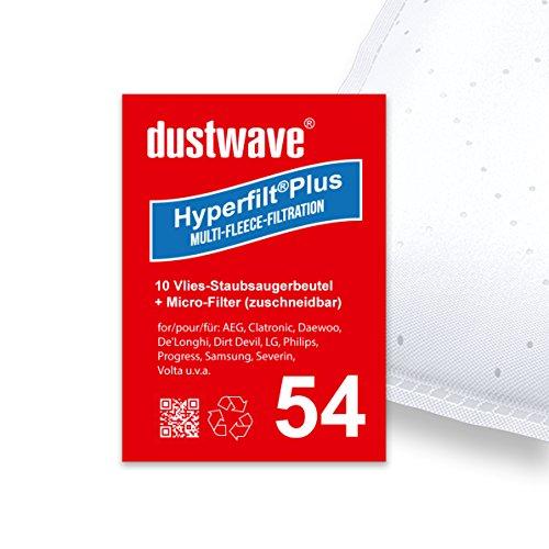 10 bolsas de aspiradora adecuadas para Dirt Devil M7011-1 Skuppy 2000 W/dustwave, fabricadas en Alemania, incluye microfiltro