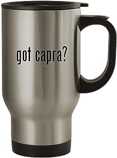 got capra? - 14oz Stainless Steel Travel Mug, Silver
