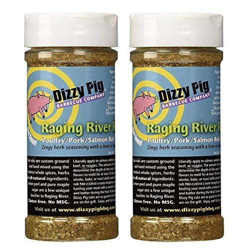 Dizzy Pig BBQ Raging River Rub Spice - 7.9 Oz (Pack of 2)