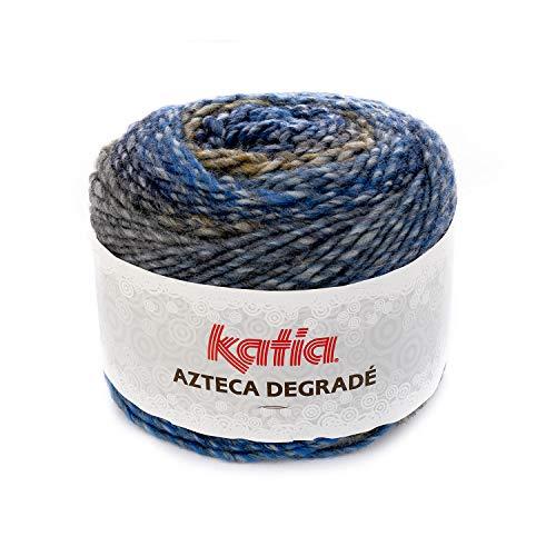 100 g//env 511 Couleur : marr/ónes//gris Katia Azteca Degrad/é 180 m de laine.