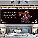 NHhuai Tapiz,en algodón Puro,Ideal para Colgar en el cabecero de la Cama Estilo étnico de Tela de Fondo Tibetano