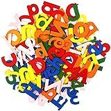 Colorido Set Letras y Números de Madera (124 Piezas) - 4,5cmx3mm Set Letras Abecedario y Numeros...