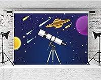 写真撮影用HD望遠鏡の背景10x7ftソフトコットンギャラクシーメトロ漫画の背景子供ベビーシャワーの誕生日パーティーの装飾用品YouTube写真撮影の小道具LYFS1138