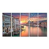 islandburner Cuadro Cuadros Venecia Foto del Gran Canal de Venecia, Santa Maria Della Salute Impresión sobre Lienzo - Formato Grande - Cuadros Modernos