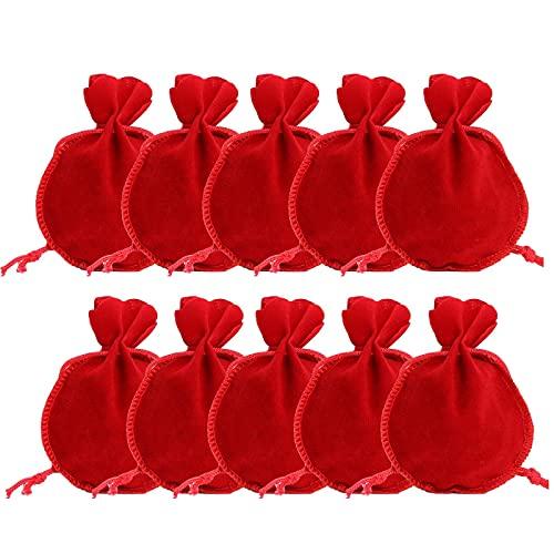 Chytaii - Confezione di 100 sacchetti regalo in organza, sacchetti per gioielli, regalo per matrimonio, colore multicolore, 7 x 9 cm