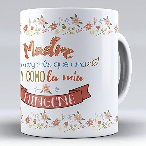 APRIL Nueva Taza cerámica Desayuno Regalo Original día de la Madre para mamá Madre no Hay más Que una, y como la mía Ninguna