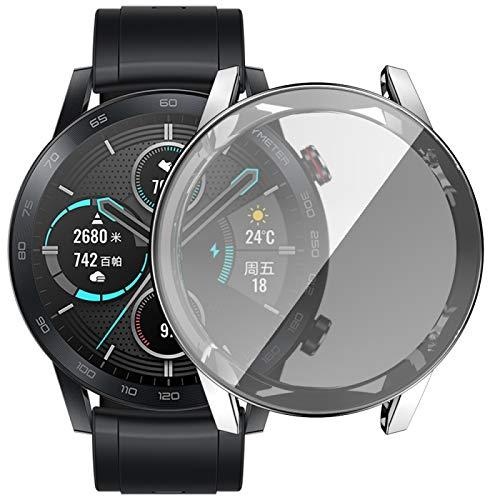 Dongdexiu Cubierta de Reloj para Huawei Honor Magic 2 Revestimiento del TPU Shell Protector AllInclusive (Color : Silver)