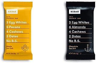 RXBAR, Maple Sea Salt, Protein Bar, 1.83 Ounce (Pack of 12) with Chocolate Sea Salt, Protein Bar, 1.83 Ounce (12 count) Breakfast Bar, High Protein Snack