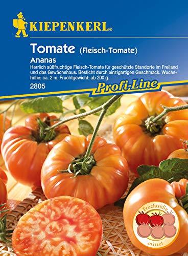 Tomaten (Fleischtomaten) Ananas, herrlich süßfruchtige Fleischtomate für geschütze Standorte im Freiland und das Gewächshaus