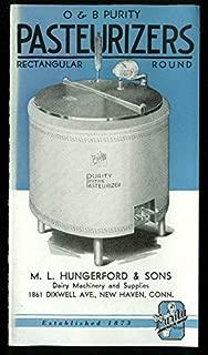 O&B Purity Milk Pasteurizers sales folder ca 1930s