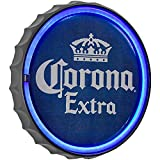 "American Art Decor Corona Extra LED Neon Light Sign Wall Decor – Corona Beer Bottle Cap LED Neon Sign for Man Cave, Bar, Garage, Game Room – USB Powered (12.5"")"
