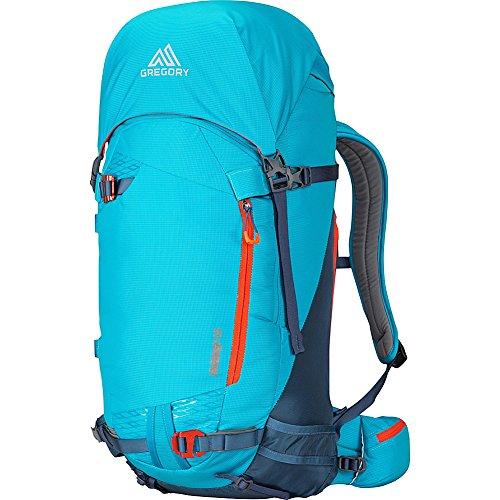 Gregory Mountain Products Targhee 45 Liter Skirucksack für Ski, Snowboard, Schneeschuh   Isolierte Trinkschlauchabdeckung, Helmhalter, Ski- und Snowboard-Tragegurte M Vapor Blue