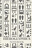 Hieroglyphics Notebook: Ancient Egypt Journal, Writing Diary, Office Home Use, Egyptian Mythology Book, Gift for Man, woman and Kid, Wide Lined Paper (Italian Edition)