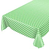 ANRO Wachstuchtischdecke Wachstuch Wachstischdecke Tischdecke Wachstuchdecke Karo Kariert Grün 220 x 140cm