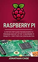 Raspberry Pi: A Step-by-Step Guide For Beginners to Program and Set-Up Top 10 Raspberry Pi Projects + First Steps on Configuration Front Cover