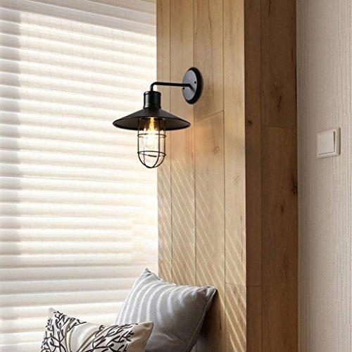 C&S CS industriële stijl wandlamp ijzer kunst Villa Deur waterdichte lamp bar restaurant wandlamp en glazen lampenkap