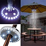 Patio Umbrella Lights, Parasol Lights,Wireless Lamp, with 24 + 4 LED,Camping Tents