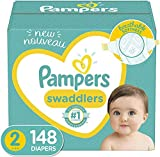 Diapers Size 2, 148 Count - Pampers Swaddlers Disposable Baby Diapers, Enormous Pack (Packaging May Vary)