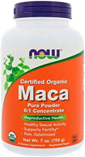 NOW Supplements, Organic Maca (Lepidium meyenii) Pure Powder, 7-Ounce