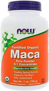 NOW Supplements, Organic Maca (Lepidium meyenii) Pure Powder, 7-Ounce