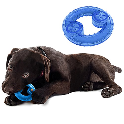 MushroomCat Pet Dog Arctic Freeze Products Puppy Teething Interactive Cooling Teether Chew Toys 2 Pack (Doughnut)