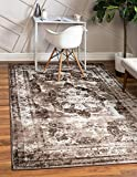 Unique Loom Sofia Collection Traditional Vintage Area Rug, 9' 0 x 12' 0 Rectangular, Dark Brown/Light Brown