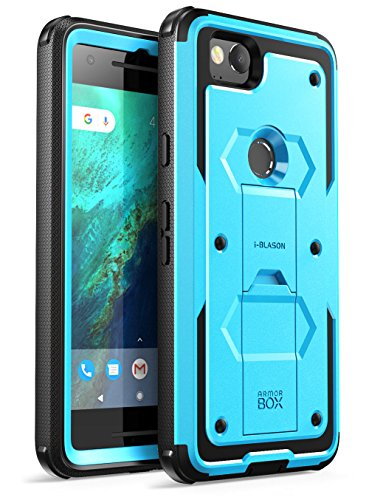 i-Blason Case for Google Pixel 2 2017 Release, [Armorbox] Built-in [Screen Protector] [Full Body] [Heavy Duty Protection ] [Kickstand] Shock Reduction Bumper Case(Blue)