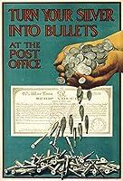 あなたの銀を弾丸に変えてください、錫サインヴィンテージ面白い生き物鉄の絵の金属板ノベルティ