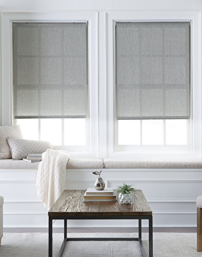 Curtainworks Lincoln 6Z200402GY Fenster-Sonnenschirm, 68,6 x 162,6 cm, Grau