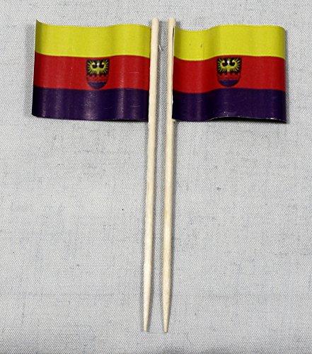 Buddel-Bini Party-Picker Flagge Emden Papierfähnchen in Profiqualität 50 Stück 8 cm Offsetdruck Riesenauswahl aus eigener Herstellung