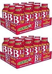powerful Stacker 2 B12 Energy Shot 24 Acai and Pomegranate 2 oz Daily Intake 10,000%