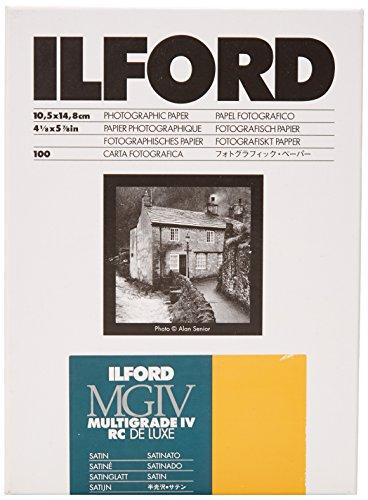 Ilford Multigrade IV RC Deluxe- Papel fotográfico, 10.5 x 14.8 cm, 100 hojas