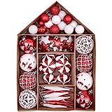 Victor's Workshop Palline di Natale Christmas Baubles 70 Pezzi Palline di Natale di Plastica Decorazione...