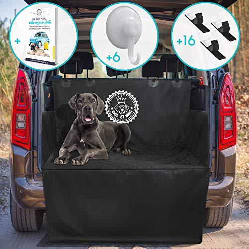 Idealer Universal Kofferraumschutz Hund inkl. eBook, rutschfeste Auto Kofferraum Schutzmatte, wasserabweisende Kofferraumdecke für Hunde, Hundedecke mit Ladekantenschutz, schmutzabweisend/pflegeleicht