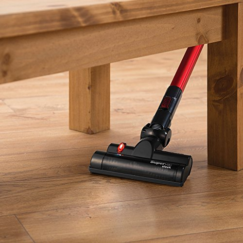 Morphy Richards Supervac Sleek Power+ Cordless Vacuum Cleaner 731007 Red / Black Cordless Cleaner