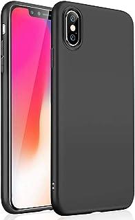 Wsky iPhone XS ケース iPhoneX ケース 衝撃吸収 TPU素材 高級感 薄 軽 手触り良い シンプル 背面防水 アイフォン カバー ワイヤレス充電 (ブラック)