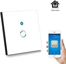 Sonoff Wifi Smart Táctil Switch Panel Google Home y eWeLink App Controlar, AOZBZ Control Remoto 1 Pandilla 1 Manera Wall Light Switch Sincronización de la Ayuda (Necesidad Hilo Neutro) (A)