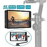 Neewer FW568 14cm Monitor Campo con Cámara 4K HDMI 8,4V DC Entrada Salida Pico Video Enfoque Auxiliar con Brazo Giratorio para Cámara Gimbals Sony Nikon Canon (Batería No Incluida)