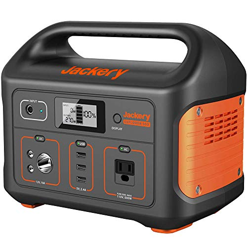 Jackery Portable Power Station Explorer 500, 518Wh Outdoor Solar Generator Mobile Lithium Battery Pack