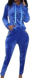 Women Long Pants Nightclub Stretch Cozy 2 Piece Tracksuit Set